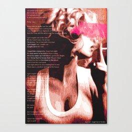Caught In The Rain | PRINT | Lyrics | Vintage Style Poster Canvas Print