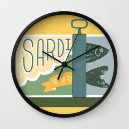 Sardines in a can Wall Clock