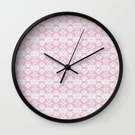 Abstract pastel pink lavender modern cross stitch pattern Wall Clock