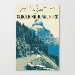 Glacier National Park - Going to the Sun Road Canvas Print