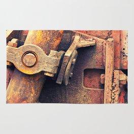Old rusty iron piece Rug