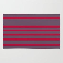 Red & Grey Stripes Rug