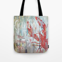 New Orleans Gumbo Sign Tote Bag