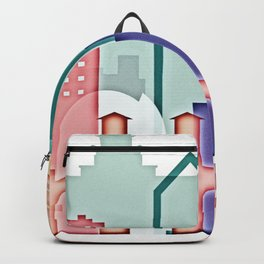 San Jose colorful skyline design Backpack