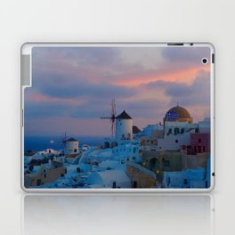 Santorini, Oia Greece, Windmill Sunrise Laptop & iPad Skin