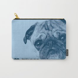 I love my dog - Pug, blue Carry-All Pouch
