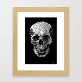 Scratch Skull Framed Art Print