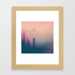 Frozen Forest Framed Art Print