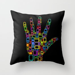 Mobile Phones Hand Throw Pillow