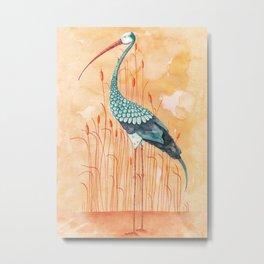 An Exotic Stork Metal Print