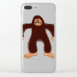 Angry bigfoot Clear iPhone Case