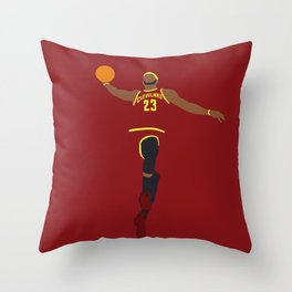 NBA Players | Lebron Dunk Throw Pillow