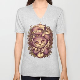 Cheshire Cat Unisex V-Neck