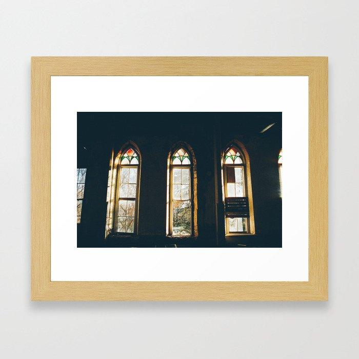 window window window Framed Art Print