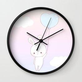 Flying bunny Wall Clock