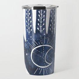 A Good Outlook Palmistry Illustration  Travel Mug
