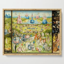 The Garden of Earthly Delights by Bosch Serving Tray