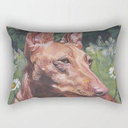 Cirneco dell'Etna dog portrait Beautiful Fine Art Dog Painting L.A.Shepard Rectangular Pillow