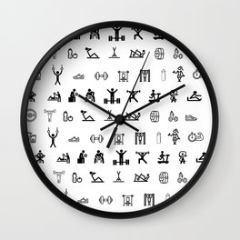 GYM Sets Wall Clock