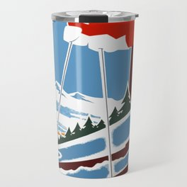 Vintage Autrans France Ski Travel Travel Mug