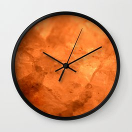 Rock Salt Wall Clock