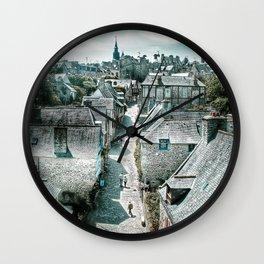 Dinan's Rooftops Wall Clock
