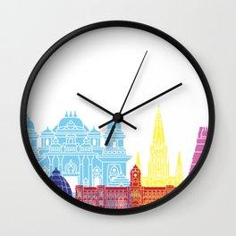 Chennai skyline pop Wall Clock