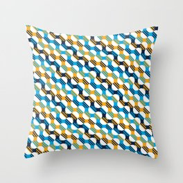 People's Flag of Milwaukee Mod Pattern Throw Pillow