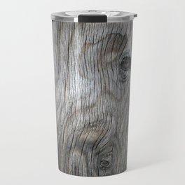 Real Aged Silver Wood Travel Mug