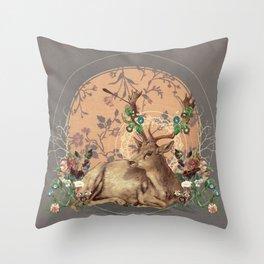 Deer Dandy Throw Pillow