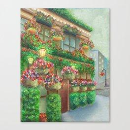 Travel Garden Pub Night Canvas Print