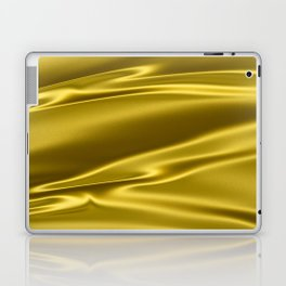 Gold satin texture Laptop & iPad Skin