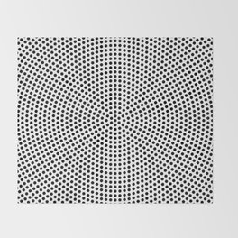 Concentric Dots Throw Blanket