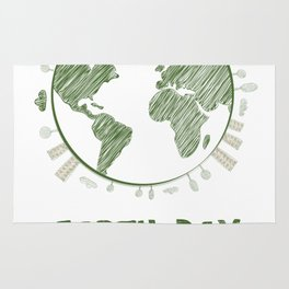 Earth Day Everyday Love the Planet Rug