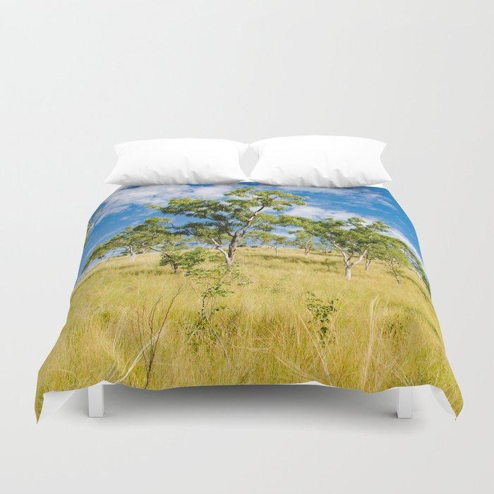 Savannah landscape Duvet Cover