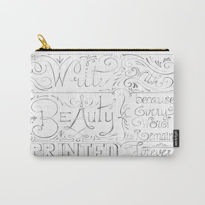 Julie's Calligraphy Carry-All Pouch