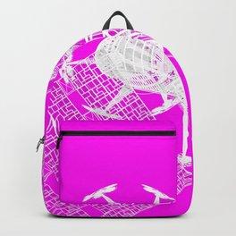 Explorer White on Pink Backpack