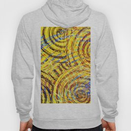Abstract Yellow Rose Bouquet Hoody