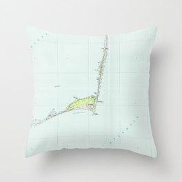 Cape Hatteras National Seashore Map (1985) Throw Pillow