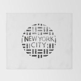 new york city typography illustration Throw Blanket