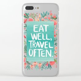 Eat Well, Travel Often Bouquet Clear iPhone Case