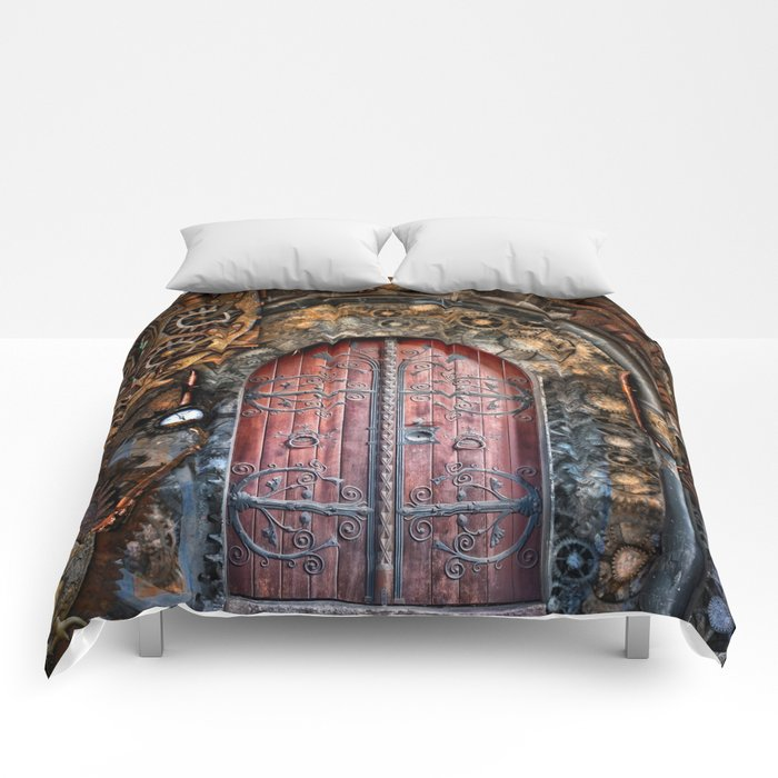 Steampunk background Comforters