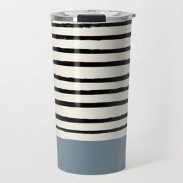 Dusty Blue x Stripes Travel Mug