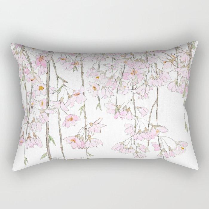 pink cherry blossom spring 2018 Rectangular Pillow