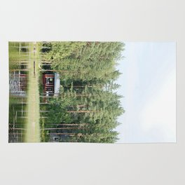 Cabin by the lake in Finland Rug