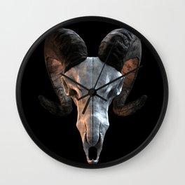 Ram Skull Wall Clock