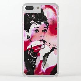 Audrey Hepburn Clear iPhone Case