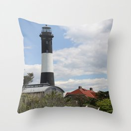 Walkway To Fire Island Lighthouse Throw Pillow