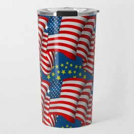 American Flag Pattern Travel Mug