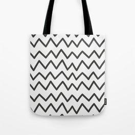 Modern Wave Line Pattern Art Tote Bag